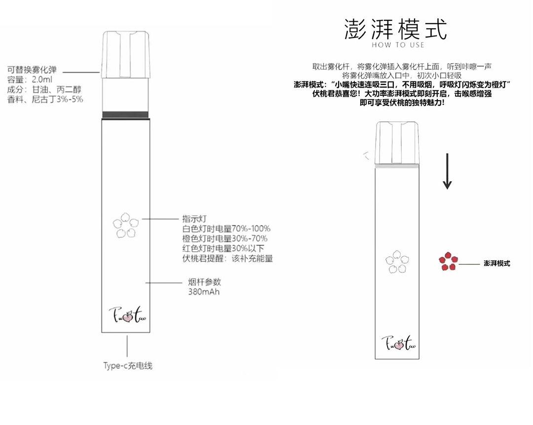 伏桃电子烟-如何开启澎湃模式-大烟雾模式-文章实验基地